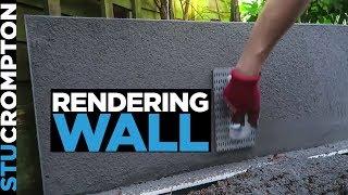 Rendering a wall in grey - Scratch coat rendering