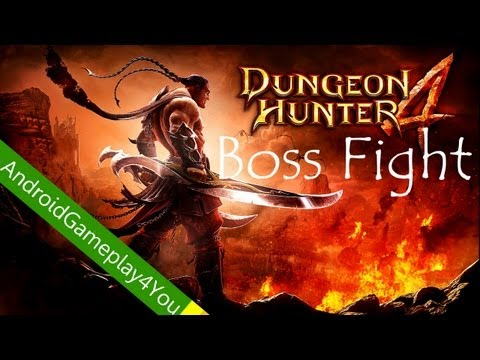 Dungeon Hunter 4 First Boss Fight Android Gameplay [Game For Kids]
