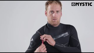How to put on a front-zip wetsuit?