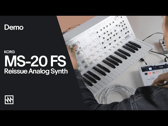 Taking the KORG MS-20 FS Analog Synthesizer for a Spin!