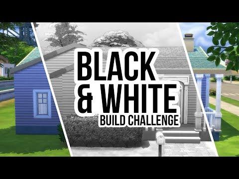 BLACK & WHITE BUILD CHALLENGE // Sims 4 Building