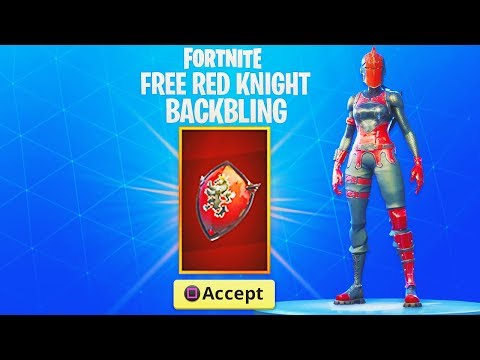 The FREE Red Knight BACK BLING Reward..