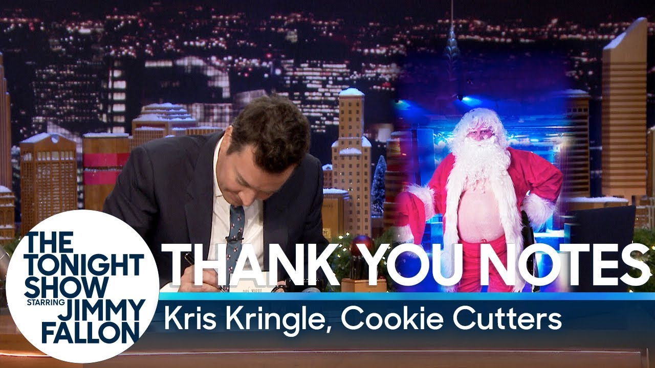 Thank You Notes: Kris Kringle, Cookie Cutters