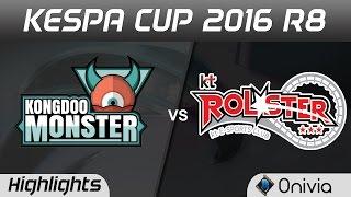 KDM vs KT Highlights Game 3 Kespa Cup 2016 R8 Kongdoo Monster vs KT Rolster thumbnail