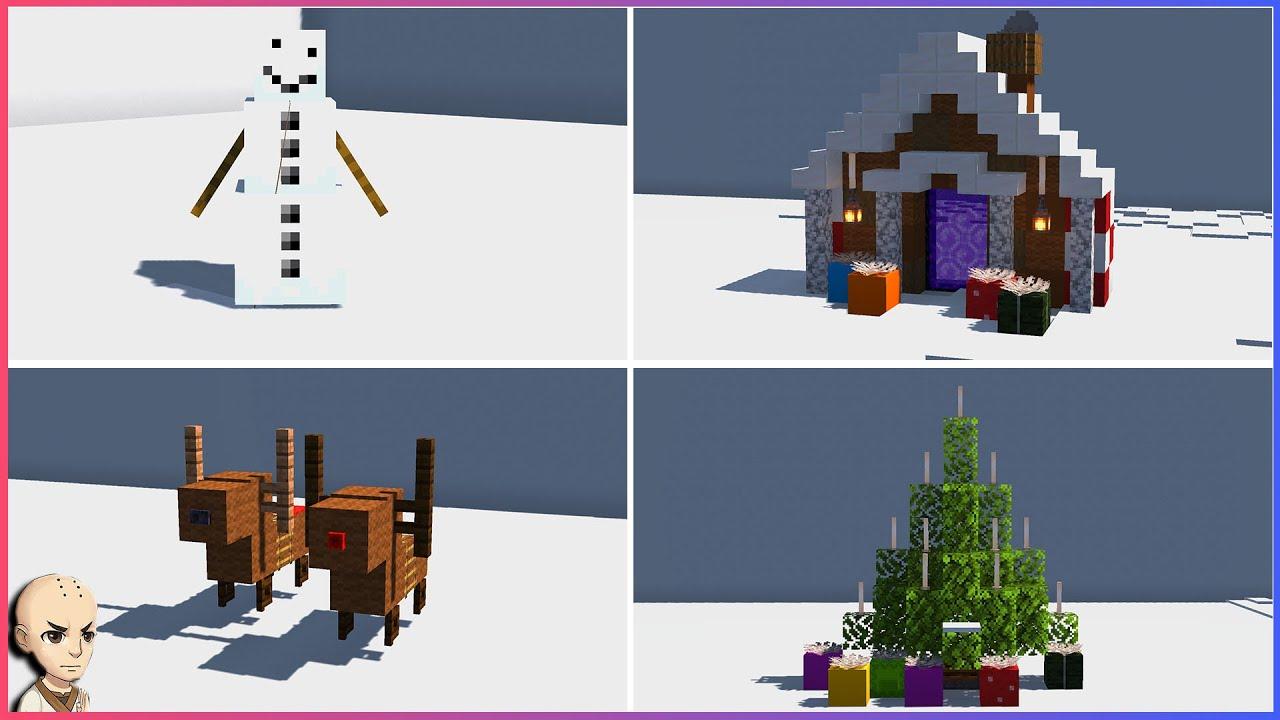 Minecraft: Top 12 Christmas Build Hacks & Ideas!