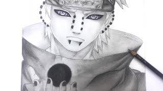 CÓMO Dibujar a Pain (Nagato) (Naruto suppuden)How to draw pain
