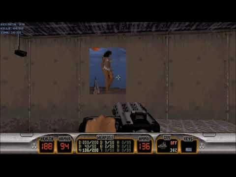 Duke Nukem 3D (100%) Walkthrough (E1L2: Red Light District)