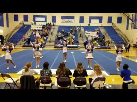 King George High School at The Battle of the Bend Cheer Competition 2016