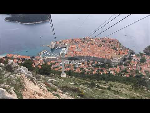 Dubrovnik Cable Car Croatia Top Tourist Attraction 2017 HD