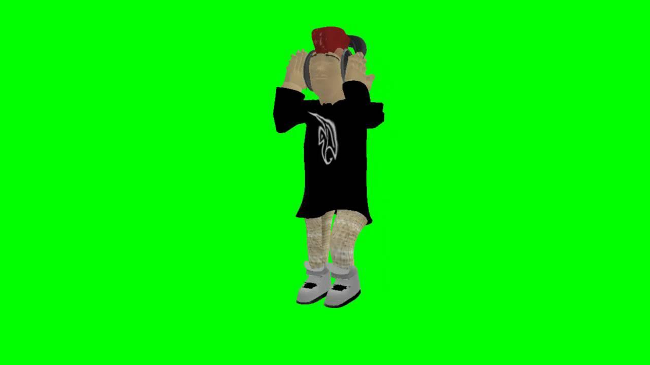 Personaje Caminando Y Bailando En Pantalla Verde Chroma