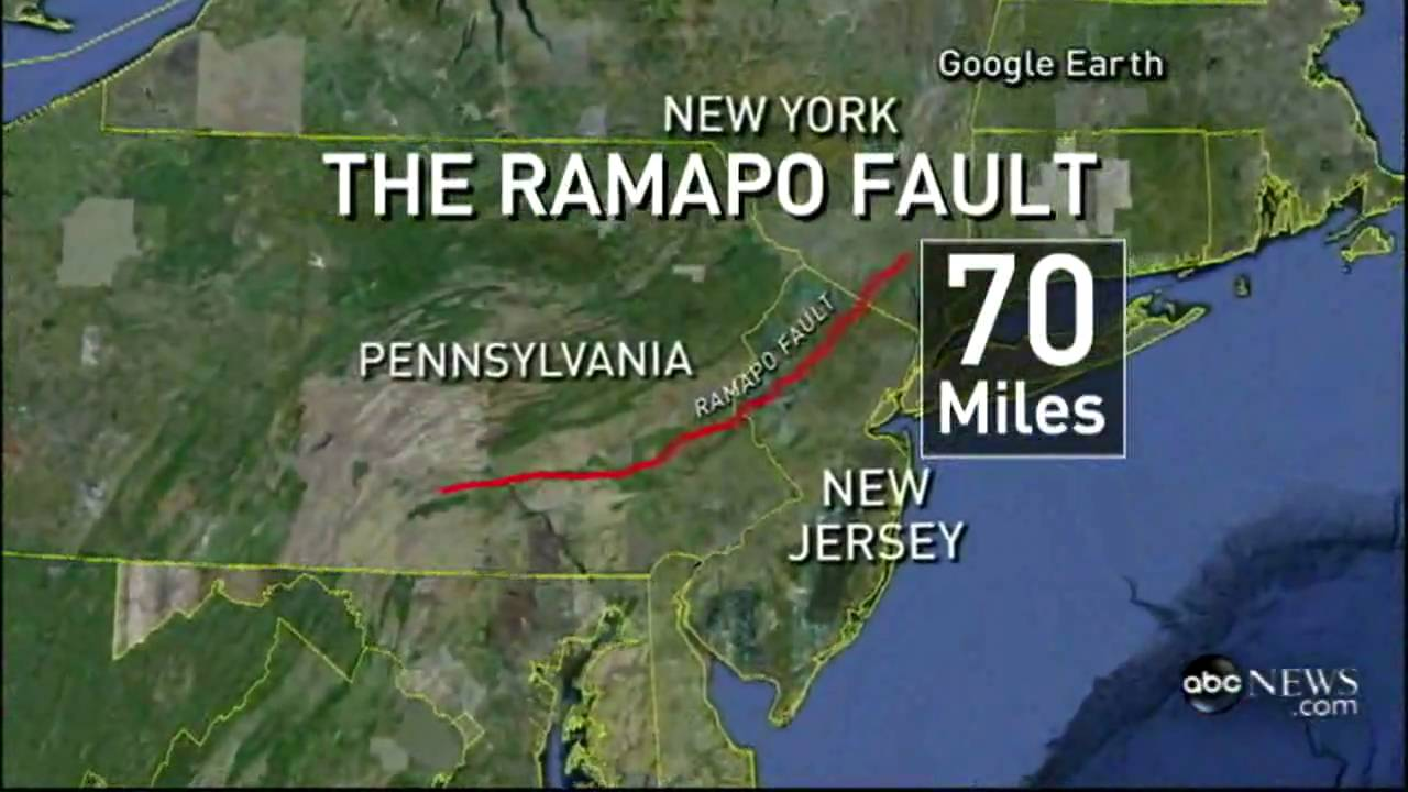 Earthquake Fault Lines In America ABC News YouTube - Fault line map us