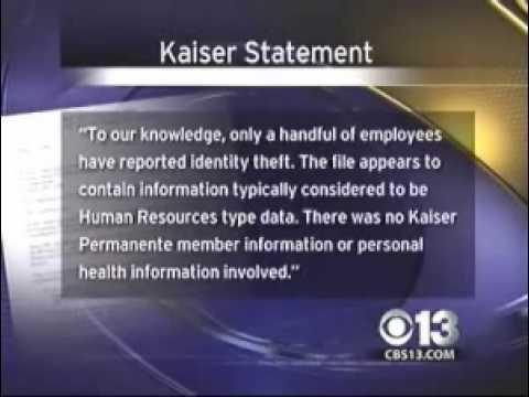 Kaiser Permanente 29,000 Identities Stolen Employee Identity Theft