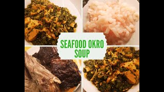 Cook with me--How to make Nigerian seafood okro soup using kale