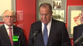 Выступление Лаврова на церемонии открытия историко-документальной выставки «Мюнхен-38» — LIVE