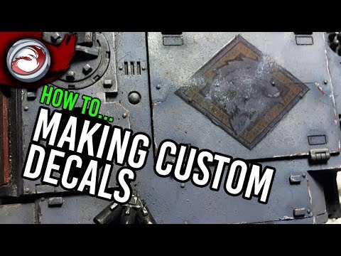 How To Make Custom Decals YouTube - How to make waterslide decals at home