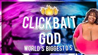 CLICKBAIT GOD: The Worlds BIGGEST D'S ! + GIVEAWAY ! (Ricegum diss track, Donald Trump, Norma Stitz)