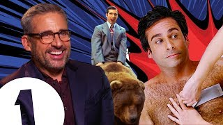 """""""It was TERRIFYING!"""" Steve Carell on riding a bear in Anchorman and THAT chest-waxing scene."""