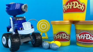 Playdoh Fisher Price Nickelodeon Blaze & the Monster Machines Cannon Blast Crusher Monster truck