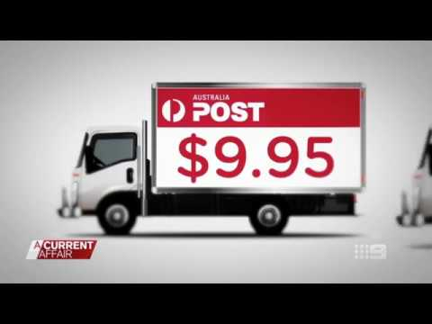A Current Affair Australia Post Shipster cheap shipping Launch Oct 2017