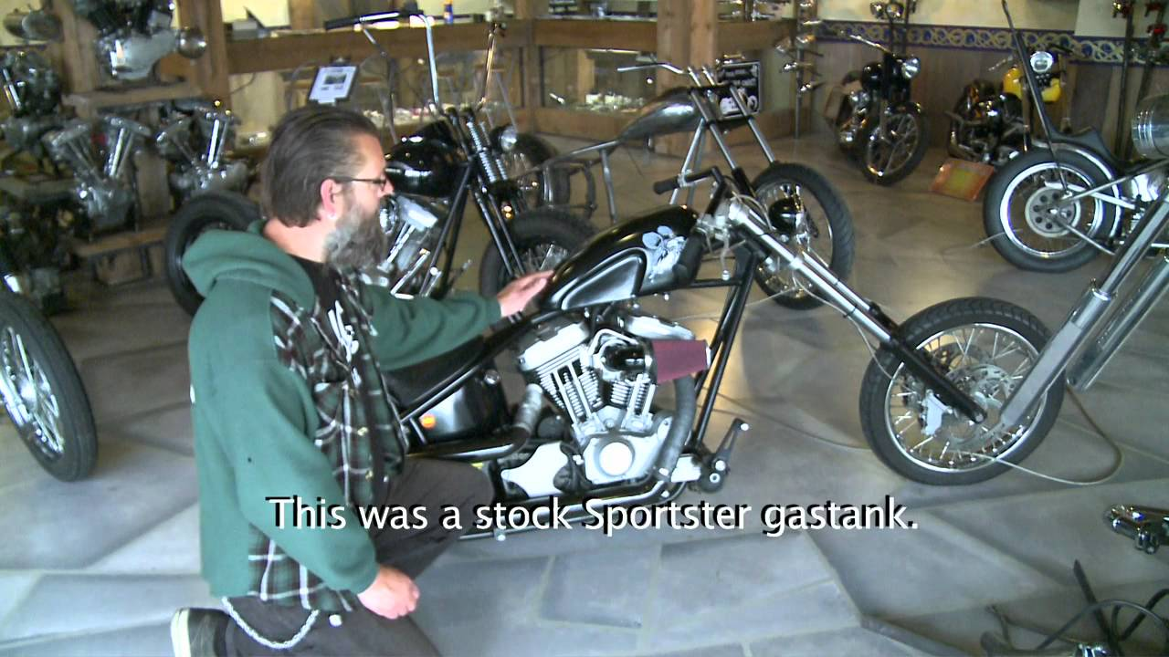 Harley-Davidson Sportster turns into a KICK-ASS Chopper !