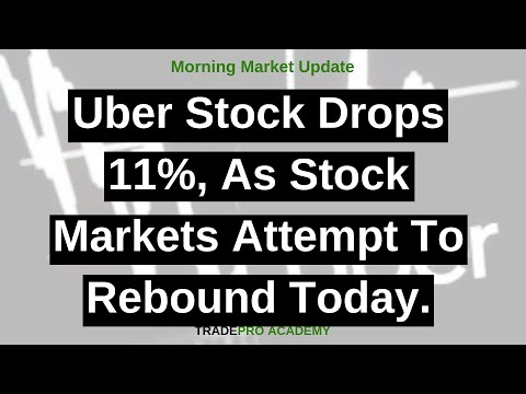 Uber stock drops 11%, as stock markets attempt to rebound today.