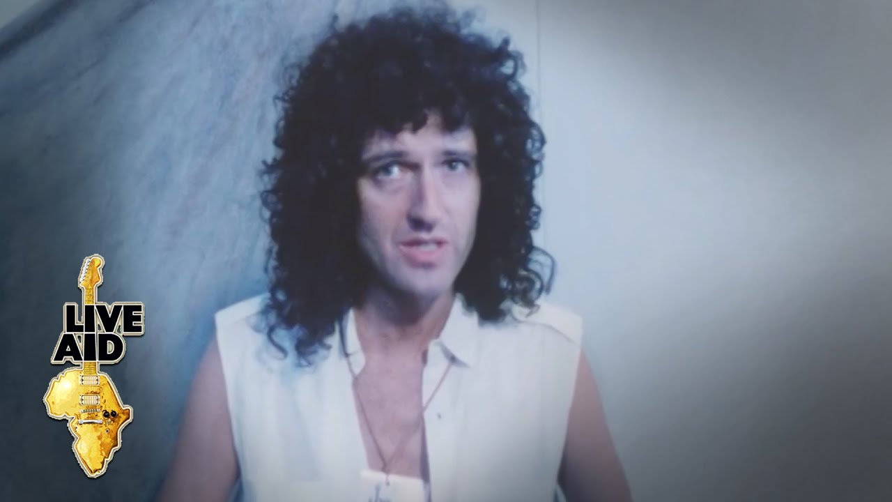 Brian May - Backstage Interview (Live Aid 1985)