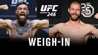 Download UFC 246: Weigh-in Mp3 and Videos