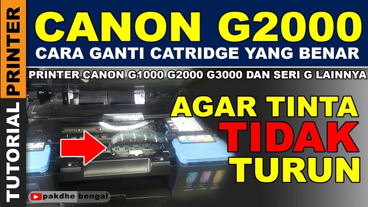 Canon Pixma G1000 G2000 G3000 Print Head Replacement