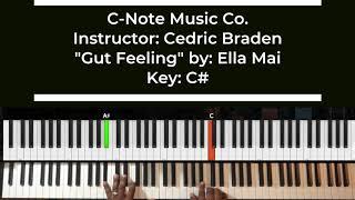 Gut Feeling By Ella Mai Easy Piano Tutorial