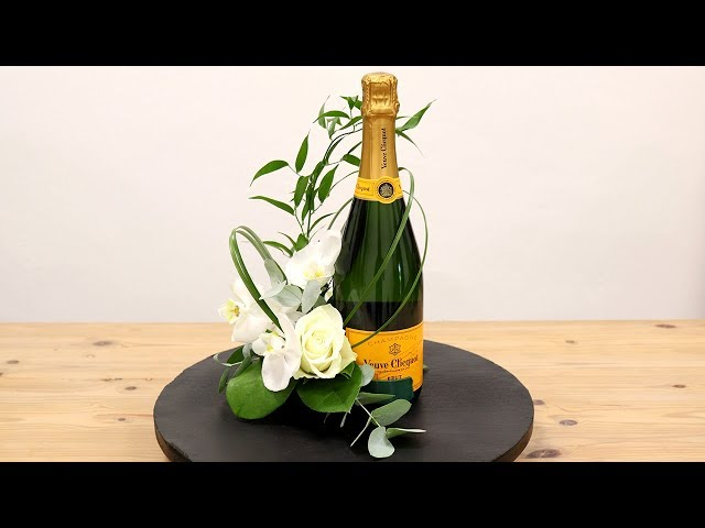 How To Decorate A Bottle With Orchid Detail