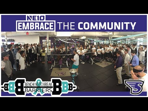 Stonehill College Strength and Conditioning Hosted Benching to Break Barriers