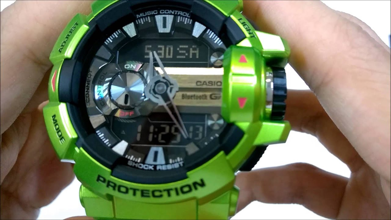 638d02d9525e Casio g-shock bluetooth (GBA-400-3BDR) unboxing - YouTube