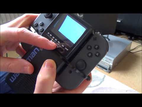 Nintendo Switch on a 1986 Sony Watchman Pocket CRT Television
