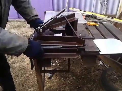Изготовление листогиб своими руками