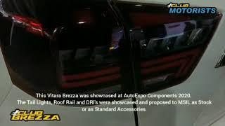 Maruti Vitara Brezza at AutoExpo Components. Brezza you missed. New Accesories Showcased to MSIL.