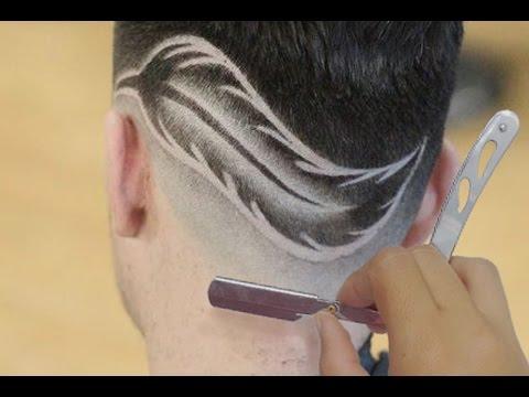 Corte de Cabelo Degrade Masculino - Desenho de Pena - Geazi Barbeiro