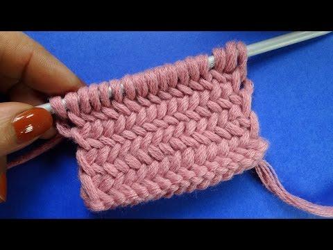 Рыбья кость Узор вязания спицами Knitting pattern  16