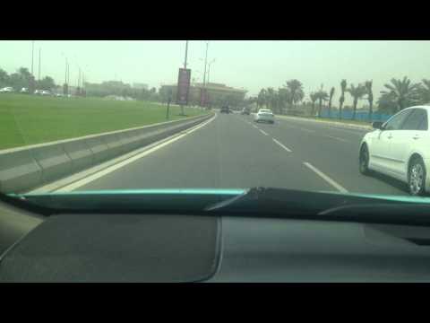 driving cornich road in QATAR