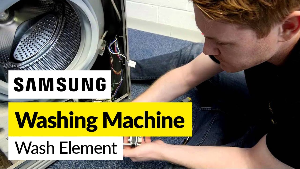 How to Replace a Washing Machine Heater Samsung  YouTube