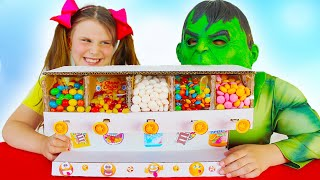 Candy Dispenser Toy Box for Superheroes Kids Ali and Adriana