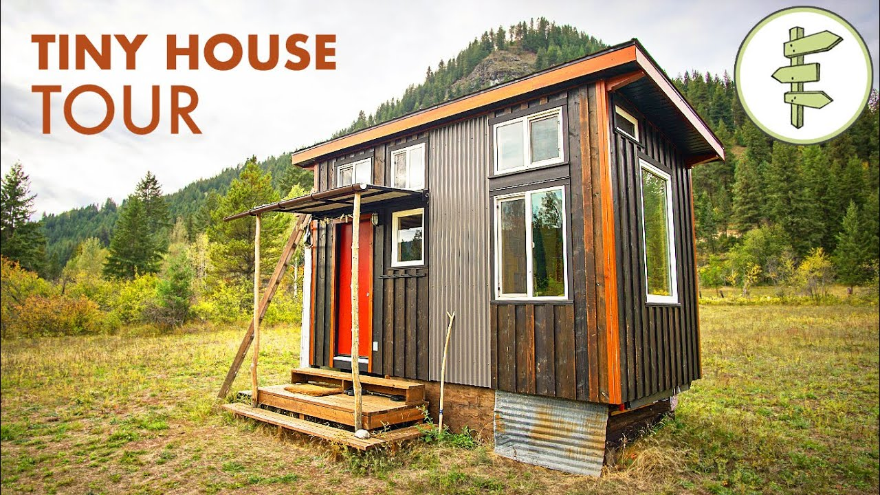 Extra Small Tiny House Built for a Traveling Minimalist - Full Tour
