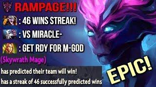 This Happens When 46 Winning Streak Sky Meet Miracle- Spectre Rampage God Epic Gameplay 7.07 Dota 2