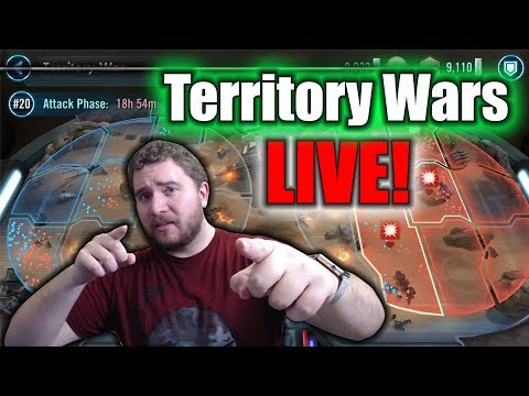 Territory Wars Live Stream! (Lots of Funny/Fail Moments) - Test Account - Star Wars Galaxy of Heroes