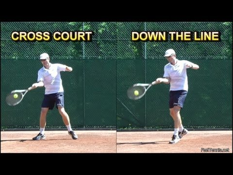 How To Hit Cross Court And Down The Line In Tennis Youtube