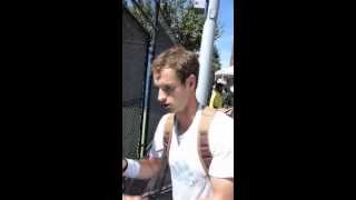 Andy Murray signing autographs at US OPEN 2013