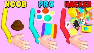 NOOB vs PRO vs HACKER - Trading Master 3D - Fidget Pop screenshot 1