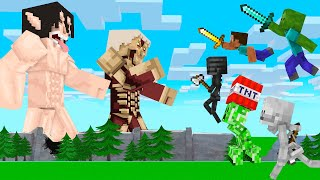 Monster School Attack On TiTan #3 +More - Minecraft Animation