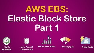 AWS EBS - Block Store Part 1 | Different EBS volume types | Capacities, Performance