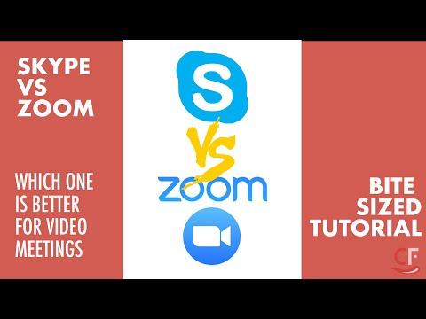 Zoom Vs Skype - Video Conferencing App Comparison | Bite Sized Tutorial