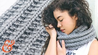 INFINITY SCARF Pattern for BEGINNERS (step-by-step tutorial)